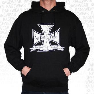 kapucnis pulóver férfi Agnostic Front - Iron Cross - RAGEWEAR
