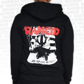 kapucnis pulóver női Rancid - Wolves - RAGEWEAR, RAGEWEAR, Rancid