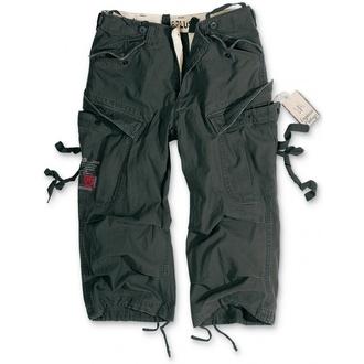 SURPLUS 3/4-es férfi rövidnadrág - Vintage - Fekete, SURPLUS
