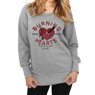 pulóver (kapucni nélkül) női - Burning - BLACK HEART, BLACK HEART