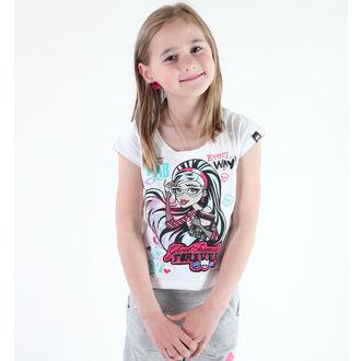 póló lány Monster High - White, TV MANIA, Monster High