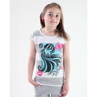 póló lány Monster High - White / Grey, TV MANIA, Monster High