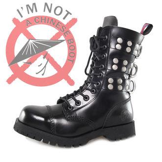 cipő NEVERMIND - 10 lyukú - Rivets Black, NEVERMIND