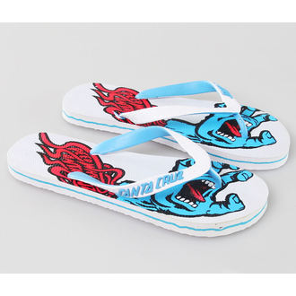 flip-flop női unisex - Screaming - SANTA CRUZ - White, SANTA CRUZ