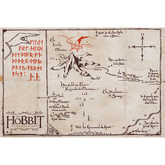 poszter The The Hobbit - Mountain Map, GB posters