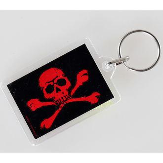 kulcstartó (kulcstartó) Skull and Crossbones - Red - PYRAMID POSTERS, PYRAMID POSTERS