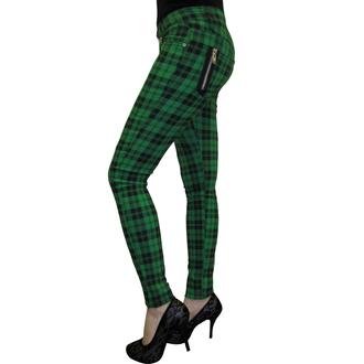 BANNED női nadrág - Check Skinny - Green - TBN405GRE