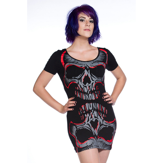 BANNED női ruha (tunika) - Red Mirros Skull - OBN134