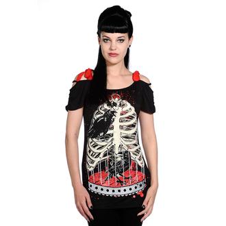 póló női unisex - Bird In Skeleton Cage - BANNED, BANNED