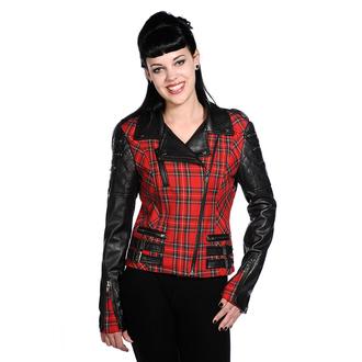 tavaszi/őszi dzseki női - Red Tartan Faux Leather - BANNED, BANNED