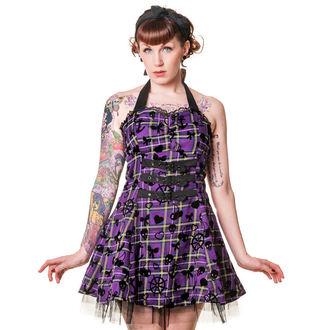 BANNED női ruha - Purple Tartán, BANNED