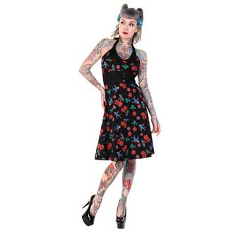 BANNED női ruha - Cherry Skull Swallows - Black, BANNED