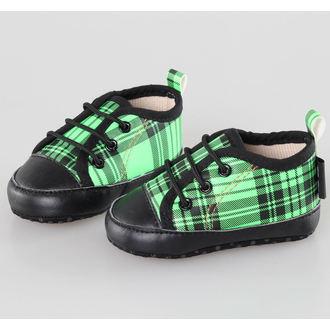 rövidszárú cipő gyermek - Black/Green - LITTLE DIAMOND - 59137-011, LITTLE DIAMOND