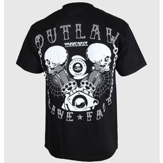 póló férfi Outlaw Threadz - Live Fast, OUTLAW THREADZ