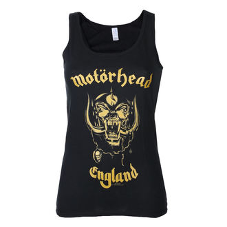 trikó női Motörhead - England Gold - Black - ROCK OFF, ROCK OFF, Motörhead