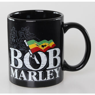 bögre Bob Marley - Distressed Logo - Black - ROCK OFF, ROCK OFF, Bob Marley