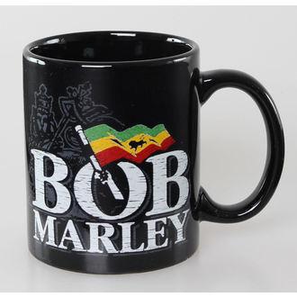 bögre Bob Marley - Distressed Logo - Black - ROCK OFF, ROCK OFF, Bob Marley