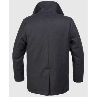 kabát férfi téli Brandit - Pea Coat - Black, BRANDIT