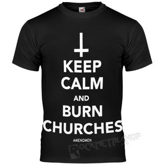 hardcore póló férfi - KEEP CALM AND BURN CHURCHES - AMENOMEN, AMENOMEN
