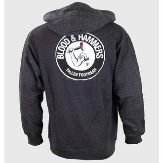 kapucnis pulóver férfi - Blood & Hammers Heather - FALLEN, FALLEN