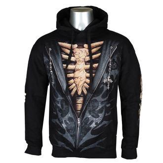 kapucnis pulóver férfi - UNZIPPED - SPIRAL
