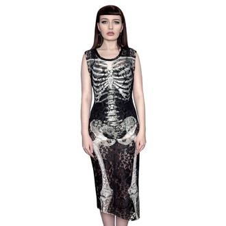 KILLSTAR női ruha- Skeletor Lace Maxi, KILLSTAR