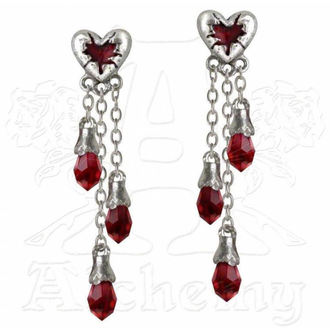 ALCHEMY GOTHIC fülbevaló - Bleeding Hearth - E272