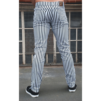 3RDAND56th férfi nadrág - Striped Skinny - BLK/WHT, 3RDAND56th