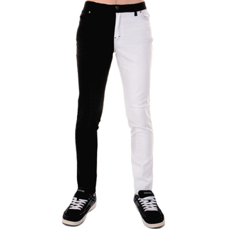 3RDAND56th férfi nadrág - Split Leg Skinny - Black/Wht, 3RDAND56th