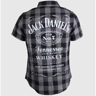 ing férfi Jack Daniels - Checks - Black/Grey, JACK DANIELS