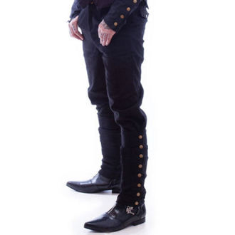 nadrág NECESSARY EVIL - Chronus mens Adjustable Steampunk - Black, NECESSARY EVIL