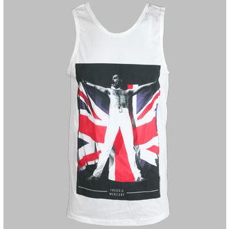 trikó férfi Freddie Mercury - Flag - White - BRAVADO, BRAVADO, Queen