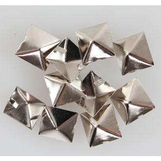piramisok fém - 10ks, BLACK & METAL