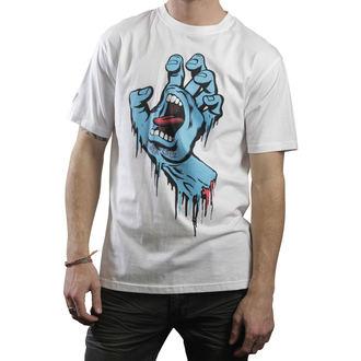 póló férfi SANTA CRUZ - Screaming Hand - White, SANTA CRUZ