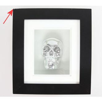 kép Silver Skull In Frame - SÉRÜLT
