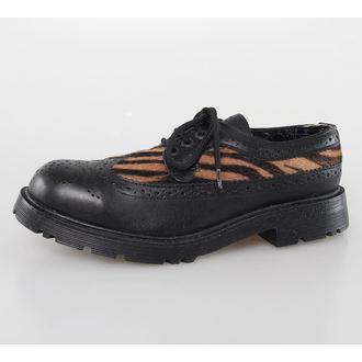 bőr csizma női - Blk Leather/Capucino Zebrino -