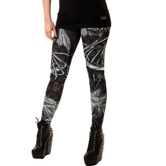 POIZEN INDUSTRIES női nadrág (leggings) - Death God, ALCHEMY BLACK