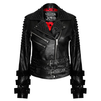bőrdzseki női - Buckled Leather - KILLSTAR, KILLSTAR