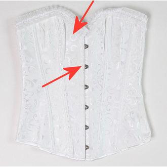 korzett női DRACULA CLOTHG - White - SÉRÜLT, DRACULA CLOTHING