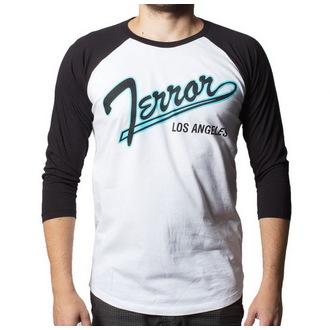póló férfi  3/4 ujj Terror - Baseball - Buckaneer - White/Black, Buckaneer, Terror