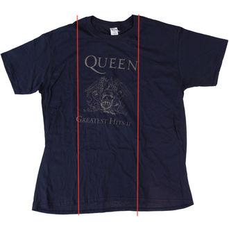 Queen férfi póló - Greatest Hits II - Navy - BRAVADO EU - SÉRÜLT, BRAVADO EU, Queen