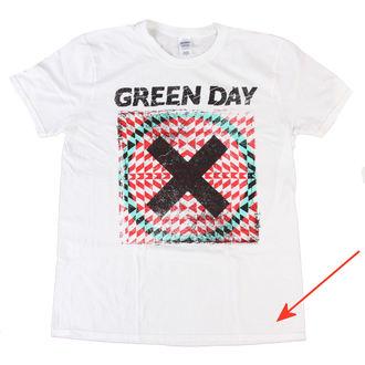 Green Day férfi póló - Xllusion - White - BRAVADO EU - SÉRÜLT, BRAVADO EU, Green Day