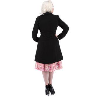 kabát női tavaszi-őszi HEARTS AND ROSES - Black Black Pelyhesítő, HEARTS AND ROSES