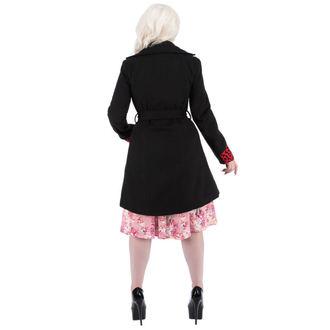 kabát női tavaszi-őszi HEARTS AND ROSES - Black Red Pelyhesítő, HEARTS AND ROSES