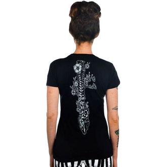 gót és punk póló női - Flower Spine - TOO FAST