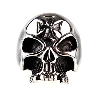 gyűrű ETNOX - Iron Cross Skull, ETNOX