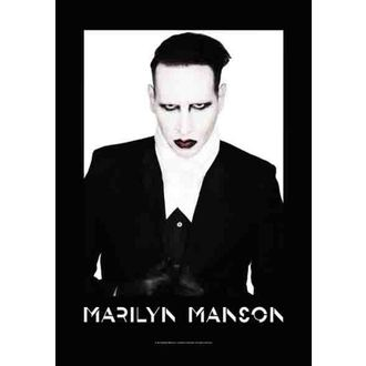 zászló Marilyn Manson - Megfelelő, HEART ROCK, Marilyn Manson