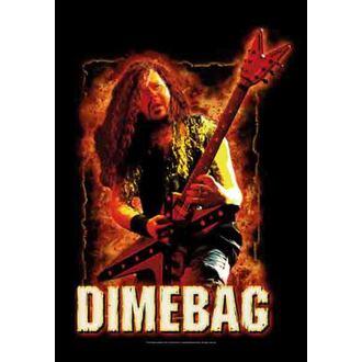 zászló Dimebag Darrel - Fire, HEART ROCK, Dimebag Darrell