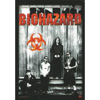 zászló Biohazard - Band, HEART ROCK, Biohazard