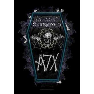 zászló Avenged Sevenfold - Coffin, HEART ROCK, Avenged Sevenfold